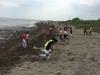 砂浜でのトレーニングスタート!